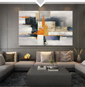 Abstract Acrylic Painting, Modern Paintings for Living Room, Hand Painted Wall Painting, Extra Large Abstract Art-Paintingforhome