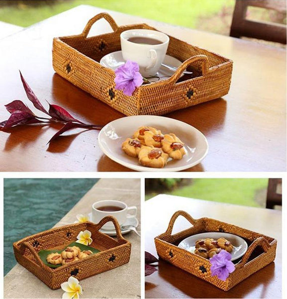 Indonesia Hand Woven Storage Basket, Natural Fiber Baskets, Small Rustic Basket-Paintingforhome