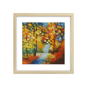 Canvas Painting, Autumn Tree, Small Painting, Landscape Oil Painting, Lovely Small Art
