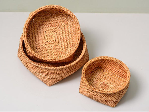 Fruit Baket, Handmade Storage Basket, Woven Basket, Rustic Basket, Home Decor-Paintingforhome