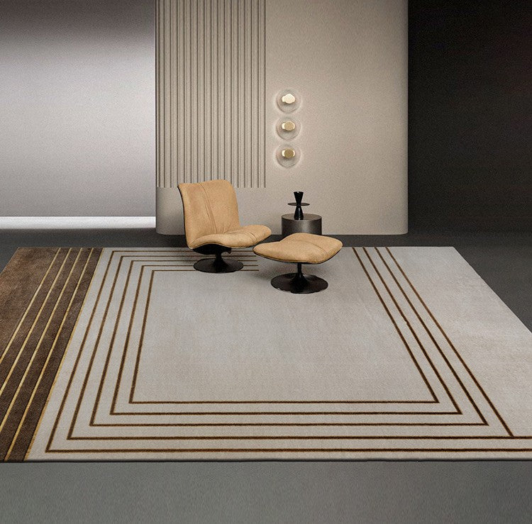 Geometric Pattern Nylon Carpet, Oriental Multicolor Floor Carpet and Rugs-Paintingforhome