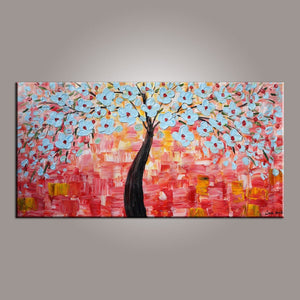 Flower Art, Abstract Art Painting, Tree Painting, Painting on Sale, Canvas Wall Art, Bedroom Wall Art, Canvas Art, Modern Art, Contemporary Art-Paintingforhome