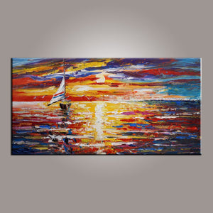 Modern Art, Contemporary Art, Boat Painting, Art Painting, Abstract Art, Abstract Art Painting, Living Room Wall Art, Canvas Art-Paintingforhome