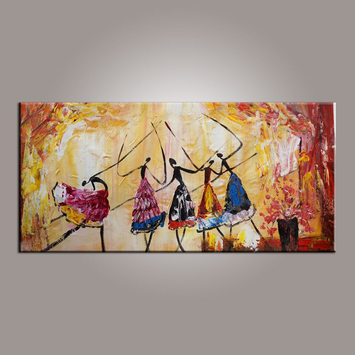 Canvas Painting, Abstract Painting, Large Art, Ballet Dancer Art, Abstract Art, Wall Art, Wall Hanging, Bedroom Wall Art, Modern Art, Painting for Sale-Paintingforhome