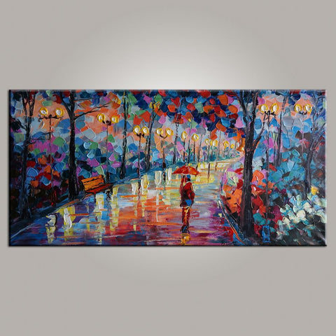 Modern Art, Painting for Sale, Canvas Art, Living Room Wall Art, Forest Park Painting, Contemporary Art, Abstract Art