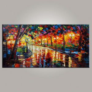 Painting for Sale, Contemporary Art, Abstract Art, Forest Park Painting, Canvas Art, Living Room Wall Art, Modern Art