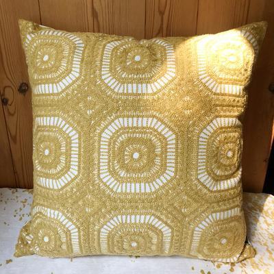 Cotton Yellow Pillow Cover, Decorative Throw Pillow, Sofa Pillows, Home Decoration-Paintingforhome