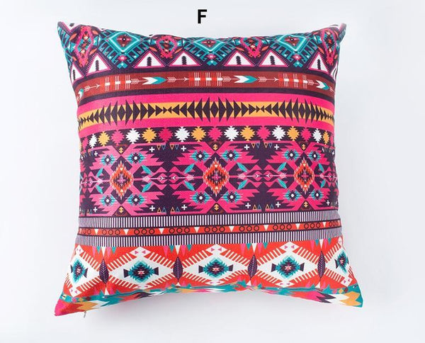 Sofa Pillows, Bohemian Style Cotton and linen Pillow Cover, Decorative Throw Pillow, Housewares-Paintingforhome