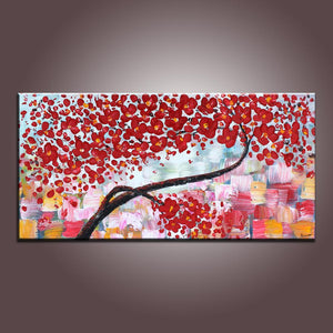Flower Art, Acrylic Painting, Contemporary Art, Abstract Art Painting, Canvas Wall Art, Bedroom Wall Art, Canvas Art, Modern Art, Contemporary Art
