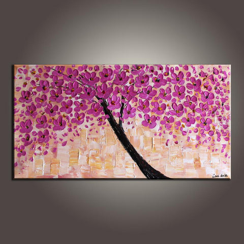 Contemporary Art, Art Painting, Flower Art, Modern Art, Abstract Art Painting, Canvas Wall Art, Living Room Wall Art, Canvas Art-Paintingforhome