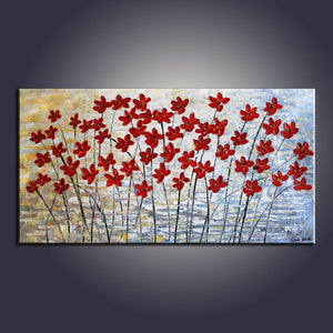 Art Painting, Flower Painting, Contemporary Art, Modern Art, Abstract Art Painting, Canvas Wall Art, Living Room Wall Art, Canvas Art-Paintingforhome