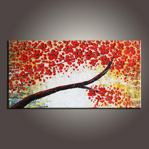 Modern Art, Flower Art, Art Painting, Contemporary Art, Abstract Art Painting, Canvas Wall Art, Living Room Wall Art, Canvas Art