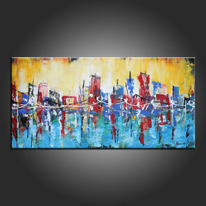 Contemporary Art, Art Painting, Abstract Art, Modern Art, Abstract Painting, Dining Room Wall Art, Canvas Art, Art on Canvas-Paintingforhome