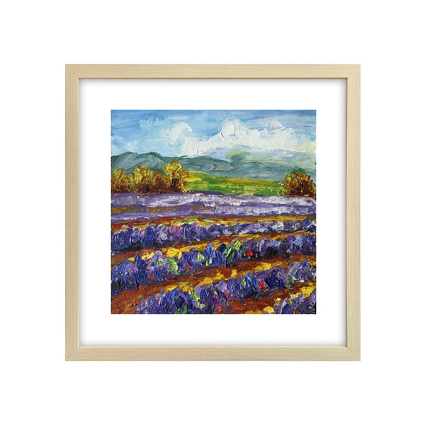 Abstract Art Painting, Lavender Field Painting, Canvas Painting, Small Painting-Paintingforhome