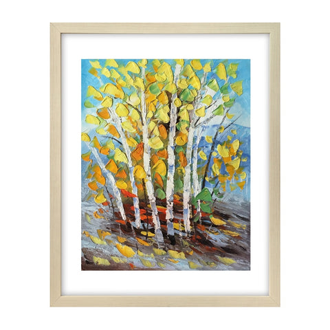 Small Art Painting, Forest Tree Painting, Canvas Art Painting, Original Painting-Paintingforhome