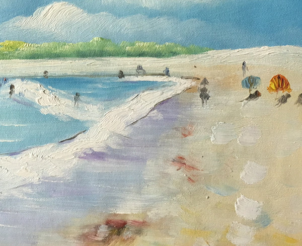 Seashore Painting,  Original Painting, Beach Painting, Small Art, Birthday Gift