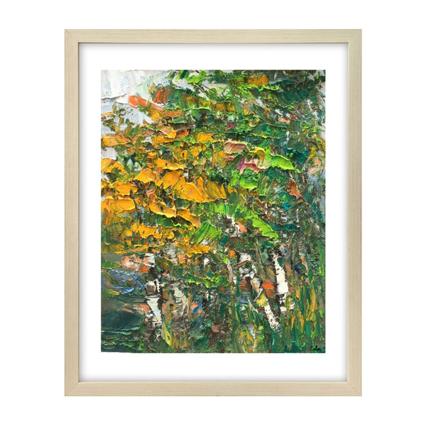 Abstract Painting, Forest Tree Painting, Small Oil Painting, Heavy Texture Oil Painting-Paintingforhome