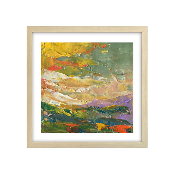 Heavy Texture Painting, Hand Painted Small Painting, Abstract Landscape Art Painting, Original Artwork-Paintingforhome