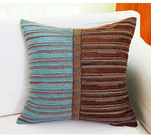 Chenille Pillow Cover, Decorative Throw Pillow, Sofa Pillows, Zig Zag Pillow, Home Decor, Housewares - Paintingforhome