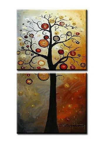 Colorful Tree, Heavy Texture Art, Abstract Art Painting, Wall Art, Wall Hanging, Hand Painted Art, Tree of Life Painting-Paintingforhome