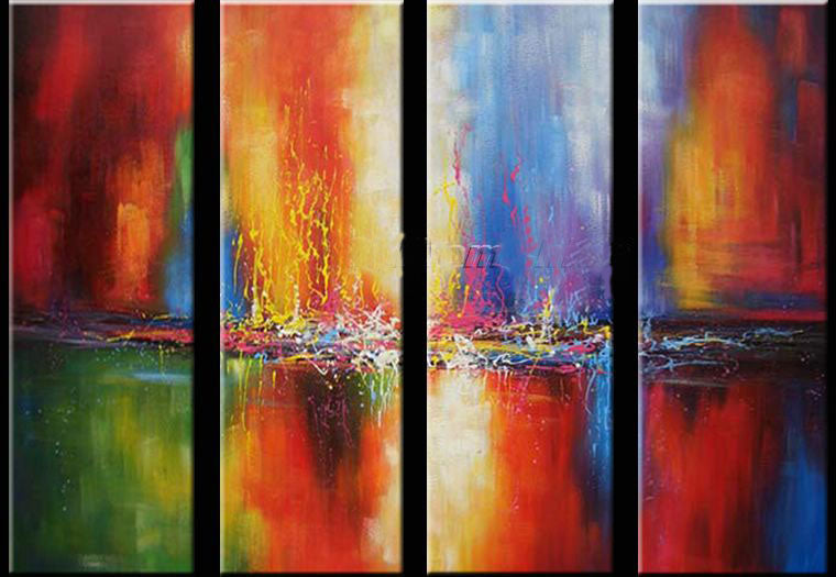 Modern Wall Art, Abstract Art, Canvas Painting, Abstract Painting, 4 Piece Wall Art, Wall Painting, Acrylic Art, Large Art, Abstract Wall Art, Ready to Hang-Paintingforhome