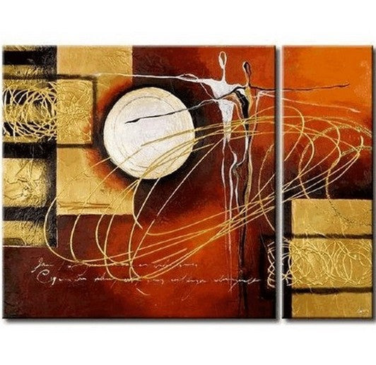 Living Room Wall Decor, Contemporary Art, Art on Canvas, Flower Painting, Extra Large Painting, Canvas Wall Art, Abstract Painting-Paintingforhome