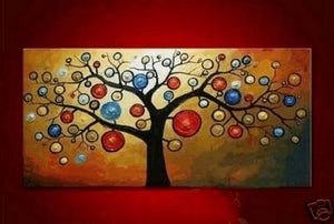 Modern Art, Contemporary Art, Art Painting, Abstract Art, Tree of Life Painting, Abstract Art Painting, Canvas Art