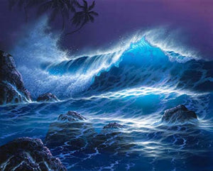 Hand Painted Art, Canvas Art, Pacffic Ocean, Big Wave, Seascape Art, Canvas Painting, Large Wall Art, Large Painting, Canvas Oil Painting, Canvas Wall Art-Paintingforhome