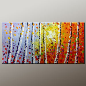 Tree Art, Wall Painting, Autumn Tree Painting, Abstract Art Painting, Canvas Wall Art, Bedroom Wall Art, Canvas Art, Modern Art, Contemporary Art-Paintingforhome