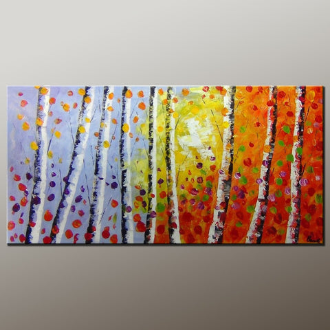 Tree Art, Wall Painting, Autumn Tree Painting, Abstract Art Painting, Canvas Wall Art, Bedroom Wall Art, Canvas Art, Modern Art, Contemporary Art