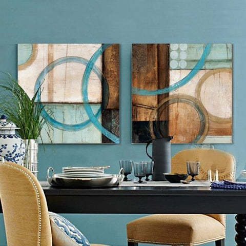 Canvas Painting, Abstract Art Painting, Dining Room Wall Art, Wall Hanging, Hand Painted Art-Paintingforhome
