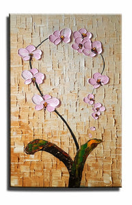 Canvas Painting, Heavy Texture Painting, Large Wall Art, Kitchen Wall Art, Flower Painting, Canvas Wall Art-Paintingforhome