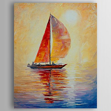 Canvas Painting, Sail Boat Painting, Kitchen Art Decor, Abstract Art, Canvas Wall Art, Art on Canvas-Paintingforhome
