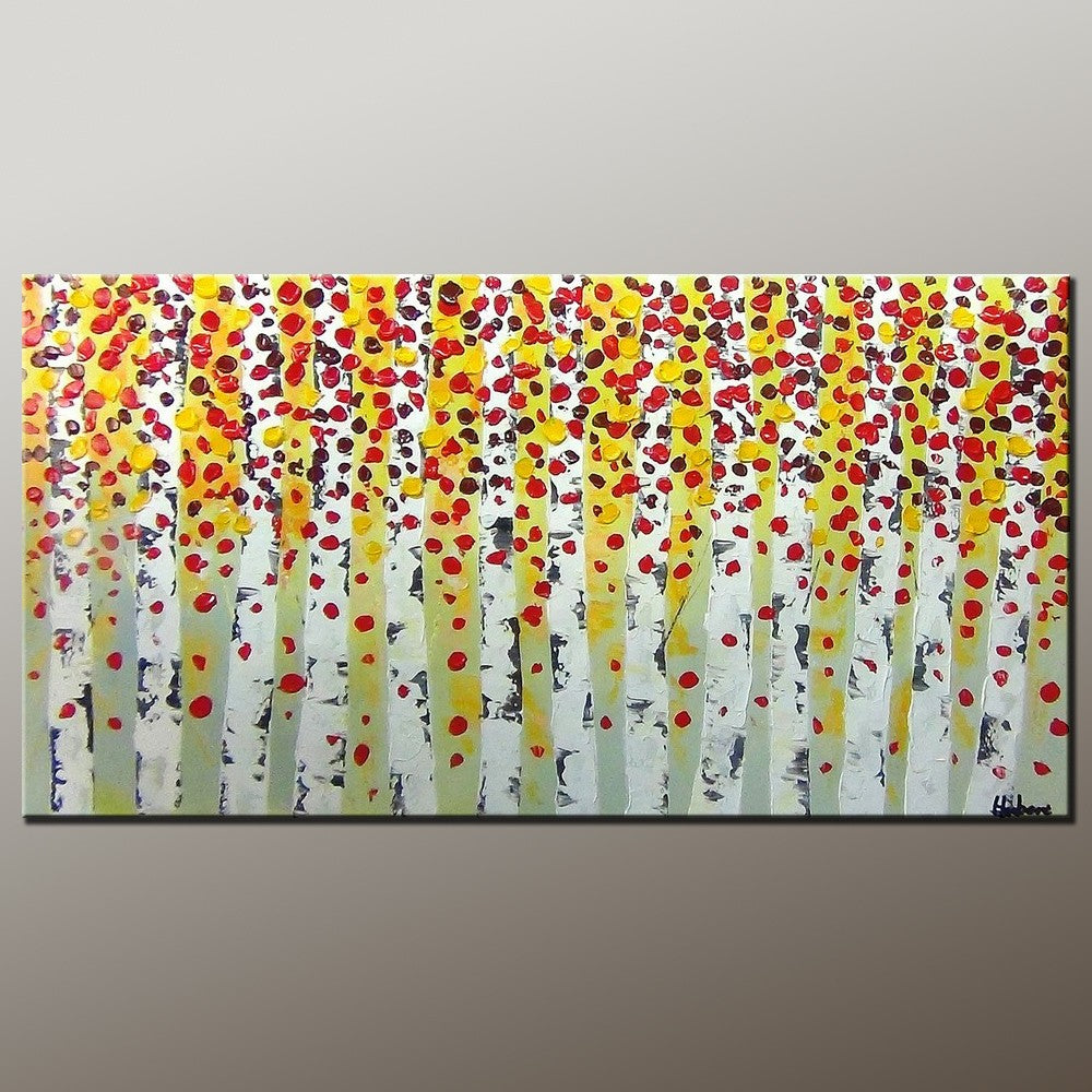Living Room Wall Art, Canvas Art, Contemporary Art, Canvas Painting, Abstract Art Painting, Heavy Texture Painting, Modern Art, Flower Art, Canvas Wall Art-Paintingforhome