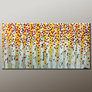 Living Room Wall Art, Canvas Art, Contemporary Art, Canvas Painting, Abstract Art Painting, Heavy Texture Painting, Modern Art, Flower Art, Canvas Wall Art