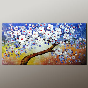 Tree Art, Art Painting, Abstract Art Painting, Abstract Landscape Painting, Canvas Wall Art, Bedroom Wall Art, Canvas Art, Modern Art, Contemporary Art-Paintingforhome