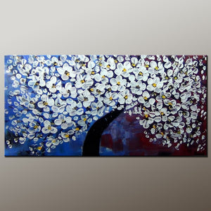 Acrylic Painting, Heavy Texture Painting, Flower Art, Abstract Art Painting, Canvas Wall Art, Bedroom Wall Art, Canvas Art, Modern Art, Contemporary Art-Paintingforhome