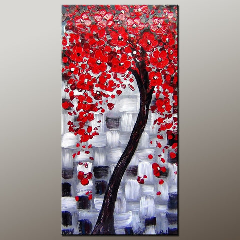 Heavy Texture Painting, Flower Art, Acrylic Painting, Abstract Art Painting, Canvas Wall Art, Bedroom Wall Art, Canvas Art, Modern Art, Contemporary Art