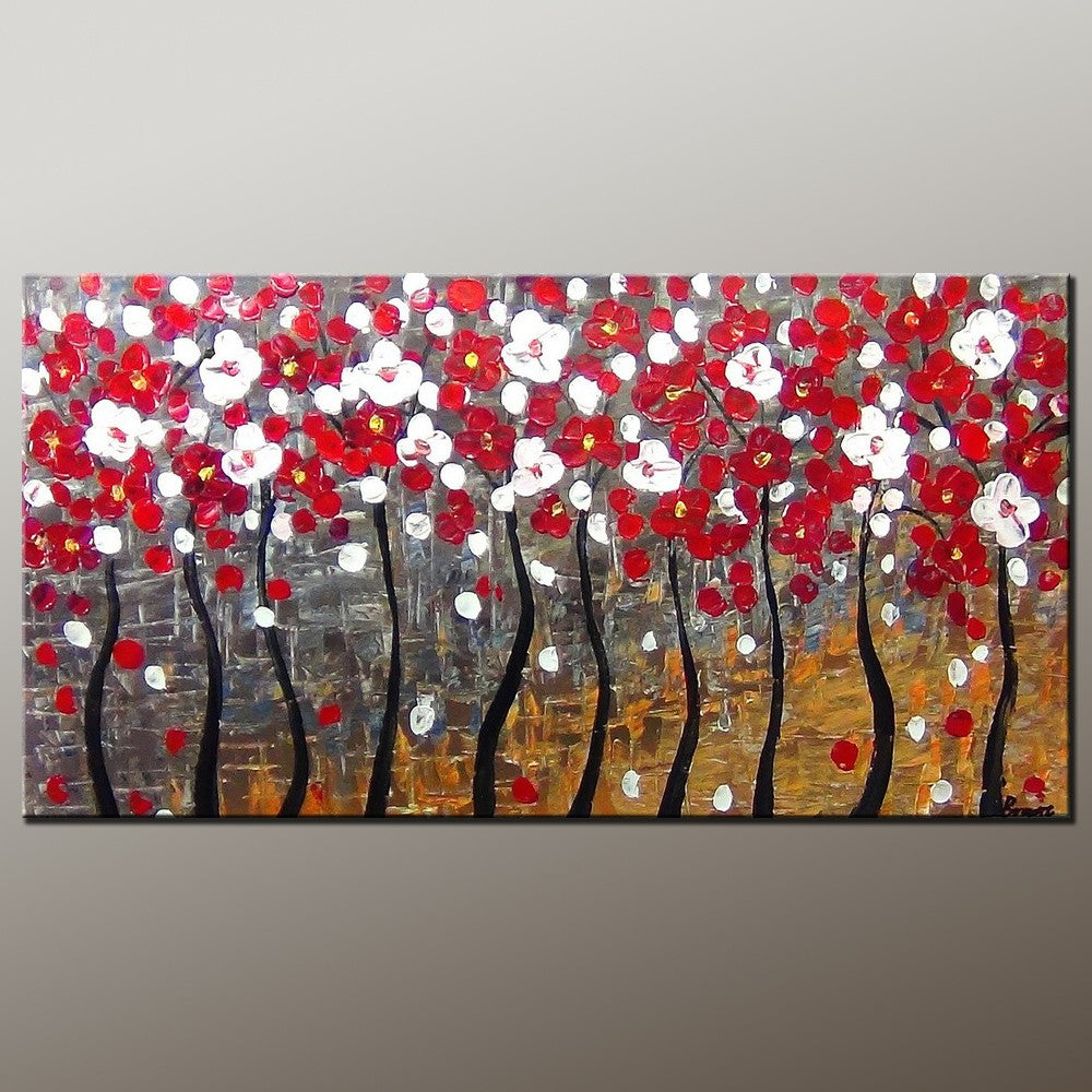 Tree of Life Art, Acrylic Painting, Abstract Landscape Painting, Abstract Art Painting, Canvas Wall Art, Bedroom Wall Art