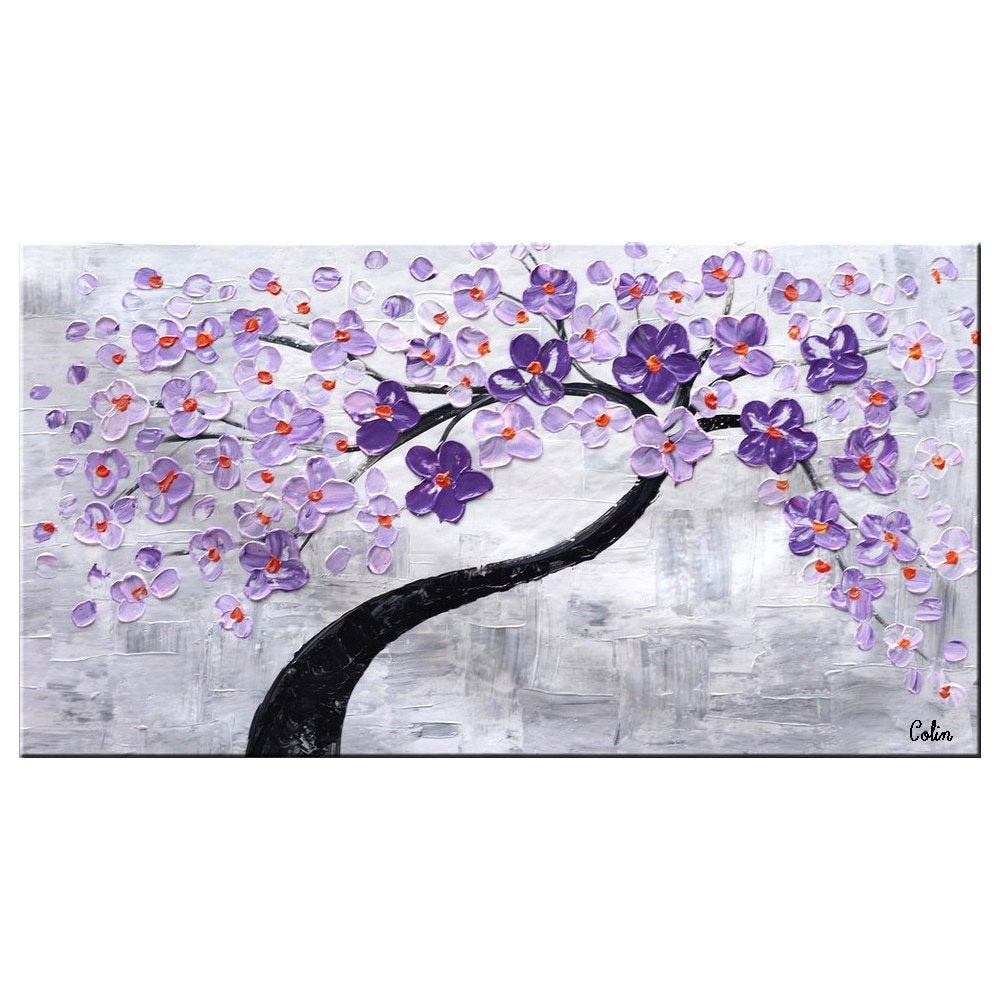 Abstract Canvas Art, Flower Tree Painting, Painting on Sale, Dining Room Wall Art, Modern Artwork, Contemporary Art - Paintingforhome