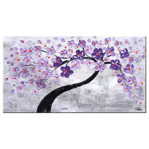 Abstract Canvas Art, Flower Tree Painting, Painting on Sale, Dining Room Wall Art, Modern Artwork, Contemporary Art
