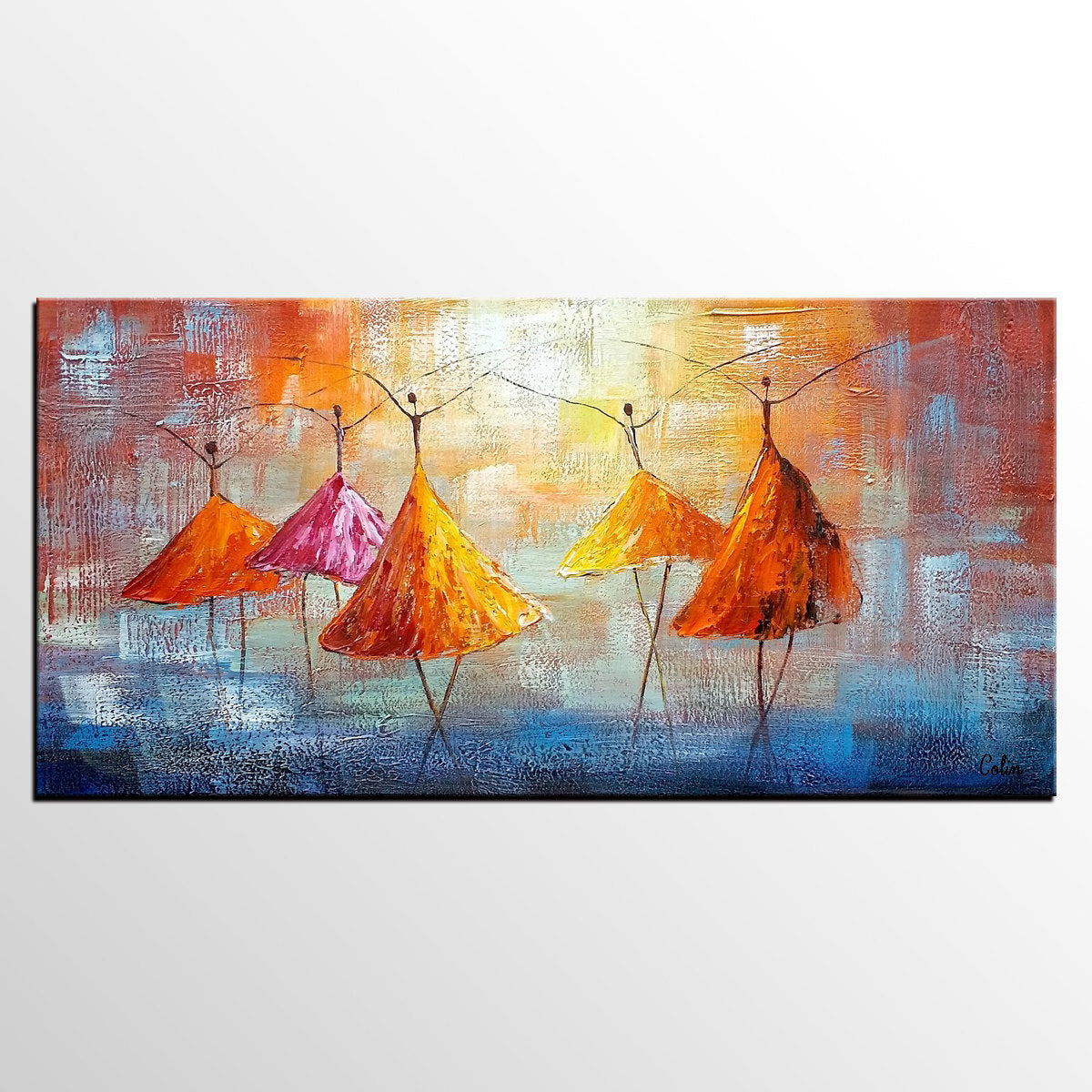 Abstract Artwork, Contemporary Artwork, Ballet Dancer Painting, Painting for Sale, Original Painting - Paintingforhome