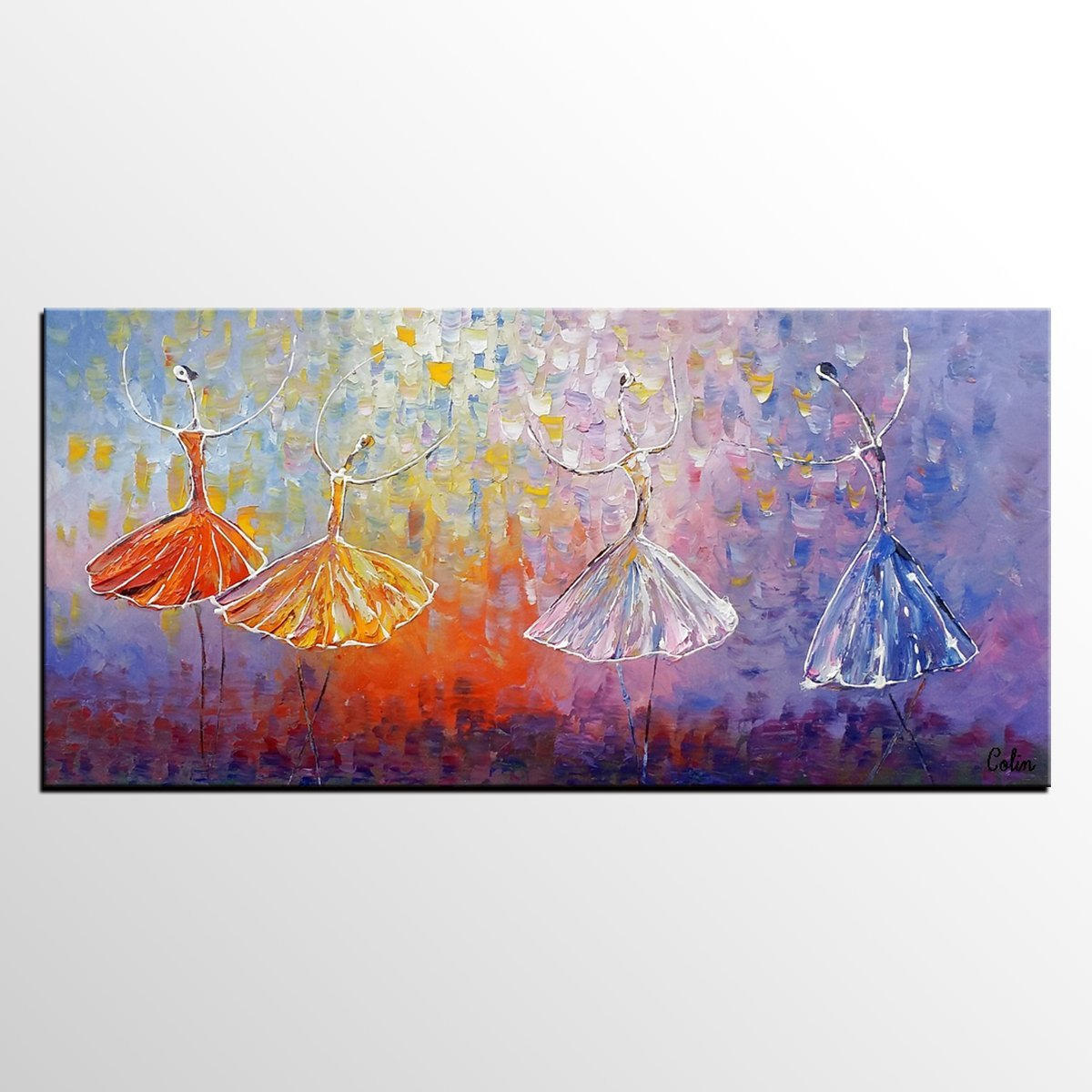 Painting on Sale, Ballet Dancer Art, Abstract Art Painting, Canvas Wall Art, Bedroom Wall Art, Canvas Art, Modern Art, Contemporary Art