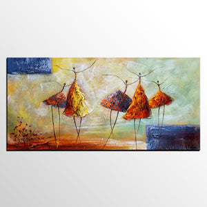Abstract Art Contemporary Wall Modern Ballet Dancer Painting For