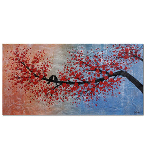 Abstract Art, Modern Art, Love Birds Painting, Art for Sale, Bedroom Wall Art, Canvas Art, Wedding Gift - Paintingforhome
