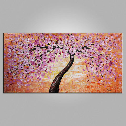 Abstract Art, Contemporary Art, Flower Tree Painting, Modern Painting, Heavy Texture Painting-Paintingforhome