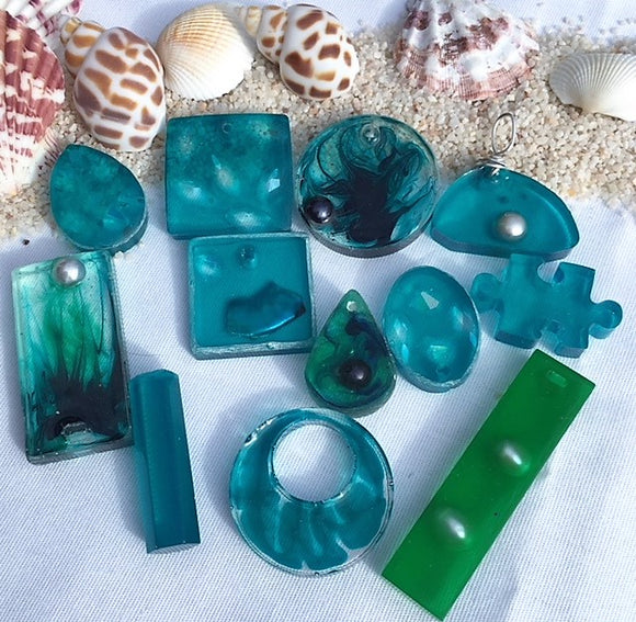 Blue resin assortments