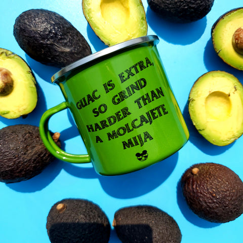 GRIND HARDER GUAC IS EXTRA MUG