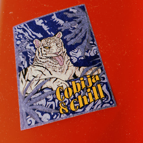 COBIJA AND CHILL STICKER
