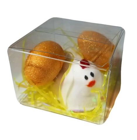 HEN & GOLD EGGS BATH BOMB SET